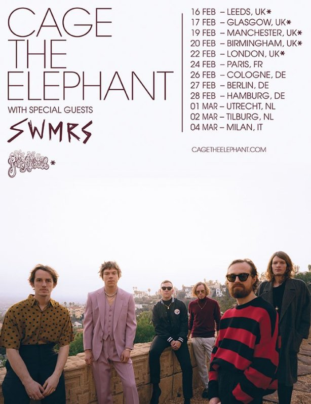 Cage_The_Elephant_Europe_-_National_poster